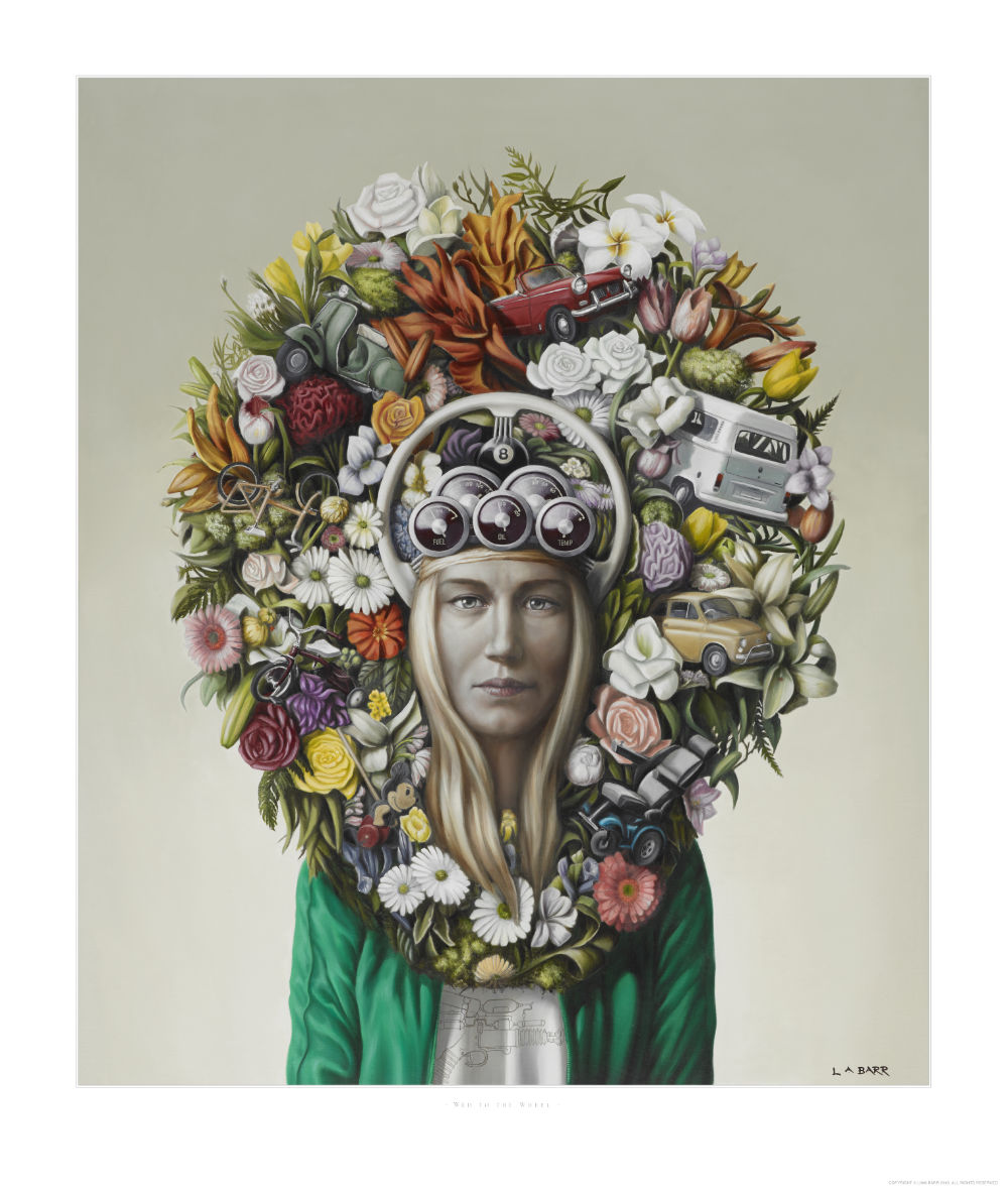 image of girl with floral headdress